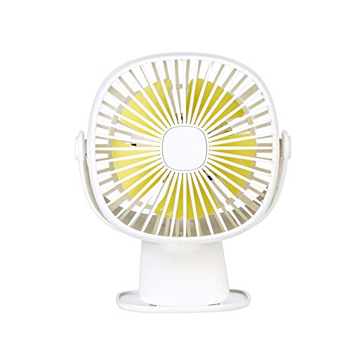 Yhhzw Clip Recargable Usb Luz Nocturna Romántica Con Ventilador Rotación Completa De 360 Grados Ventilador De Aire Recargable Carga Usb Ventilador De Escritorio Tamaño 150 × 102 × 205 Mm