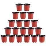 Holibanna 20 Unidades de Macetas de Jardín Infantil Macetas de Plástico Suculentas Macetas de Plantas de Cactus Vegetales Contenedores de Plantas de Semillas Blandas Macetas de Inicio para
