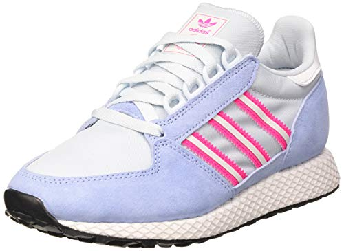 adidas Forest Grove W, Zapatillas Mujer, Periwinkle/Crystal White/Shock Pink, 38 EU
