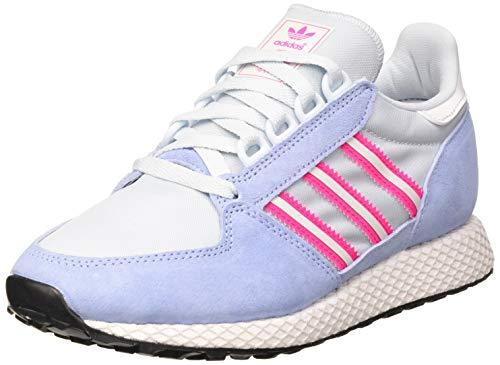 adidas Forest Grove W, Scarpe da Ginnastica Donna, Periwinkle/Crystal White/Shock Pink, 40 EU