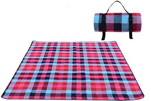 Bele 200 * 300cm Picknickmatte Manta Picknickdecke Camp Teppich feuchtigkeitsbeständig Wasserdicht langlebig tragbar maschinenwaschbar, Regenbogengitter, 150cm 200cm