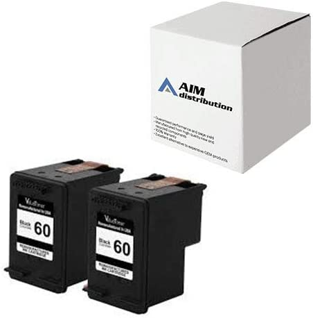 AIM Compatible Replacement for HP NO. 60 Black Inkjet (2/PK-200 Page Yield) (CZ071FN) - Generic