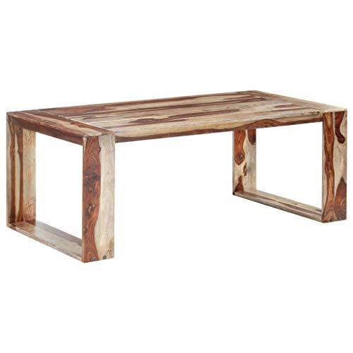 vidaXL Madera Maciza de Sheesham Mesa de Comedor Muebles de Cocina Salón Sala de Estar Hogar Casa Robusto Estable Duradera Bonita Retro 200x100x76 cm