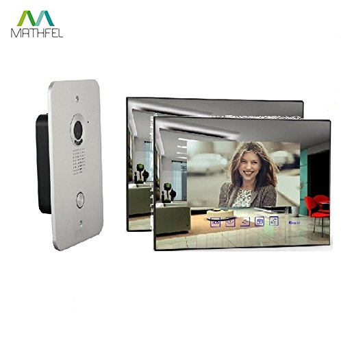 2 Draht Video Türsprechanlage Gegensprechanlage mit 7 '' Monitor (2x SpiegelGlas)