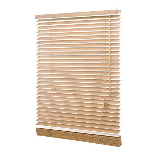 Persiana, madera de roble, 35 mm, incluye set de montaje, diversos tamaños: 40 / 50 / 60 / 70 / 80 / 90 / 100 / 110 / 120 / 130 / 140 / 160 x 130 o 160 o 250 cm (ancho x alto), roble, 80x130 (B x H in cm)