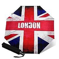 ロンドン 英国の旗 自動開閉折り畳み傘 可愛い 軽量 レディース傘 晴雨兼用 高密度PG布 耐風撥水 UVカット 加工済み 超軽量 携帯しやすい 紫外線遮蔽率99% 完全遮光 雨傘 日傘 収納ポーチ付きミニ