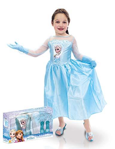 Rubie's-déguisement officiel - Disney- Panoplie Elsa + accessoires - Taille M- I-630085M