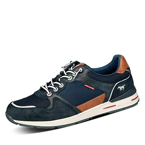 MUSTANG Herren 4154-308 Sneaker, Navy, 46 EU