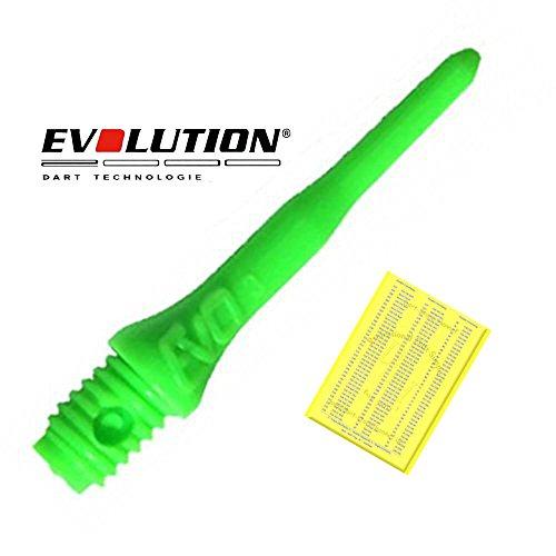 200 Evolution EVO Dart Spitzen, Neongruen und Dart-Store Hennef Checkout-Card
