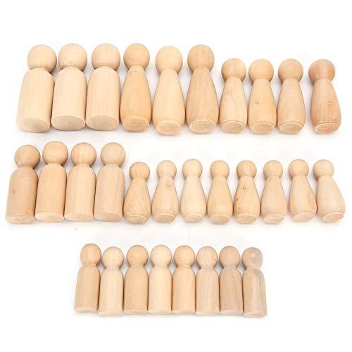 Juego de muñecas de madera para muñecas, formas de madera para personas, manualidades para manualidades