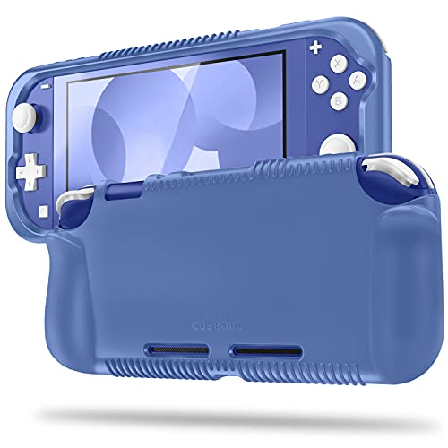Fintie Case for Nintendo Switch Lite 2019 - Soft Silicone [Shock Proof] [Anti-Slip] Protective Cover with Ergonomic Grip Design for Switch Lite Console (Navy Blue)