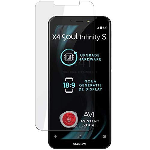disGuard Schutzfolie für Allview X4 Soul Infinity S [4 Stück] Entspiegelnde Bildschirmschutzfolie, MATT, Glasfolie, Panzerglas-Folie, Bildschirmschutz, Hoher Festigkeitgrad, Glasschutz, Anti-Reflex