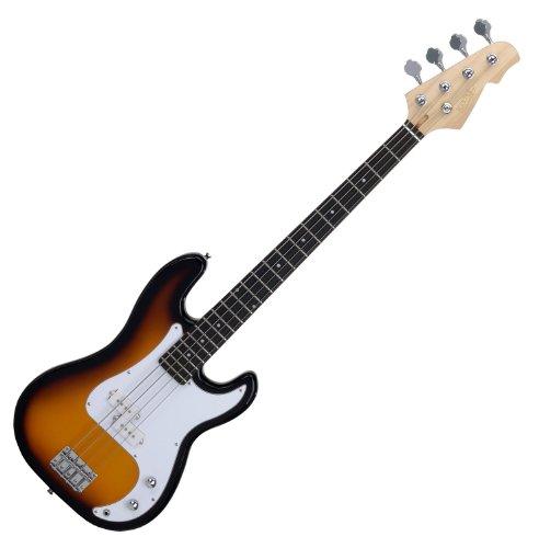 Rocktile Punsher Preci Style E-Bass (Bassgitarre, geteilter Tonabnehmer, 22 Bünde, Griffbrett in Rosewood Optik) sunburst