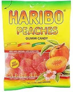 Haribo Peaches Gummi Candy 4 oz bag (2 bags 8 oz total)
