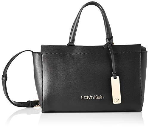 Calvin Klein Enfold Med Tote - Borse a tracolla Donna, Nero (Black),...