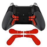 4 Pcs Red Metal Stainless Steel Paddles Hair Trigger Locks for Xbox One Elite...
