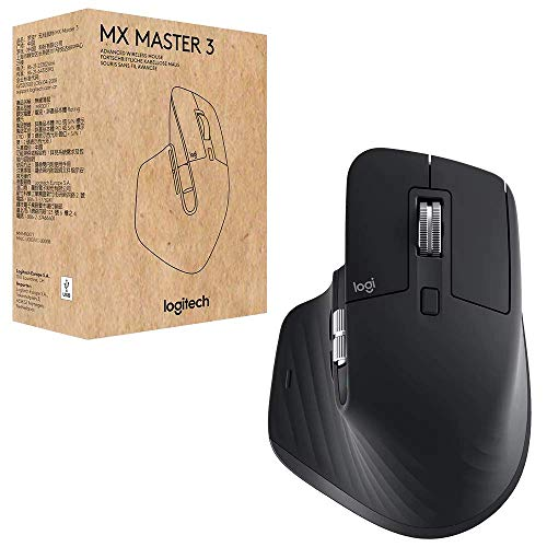 Logitech MX Master 3 Advanced Mouse - Zwart - Business Edition [Dual Connect, 2,4 GHz & Bluetooth]