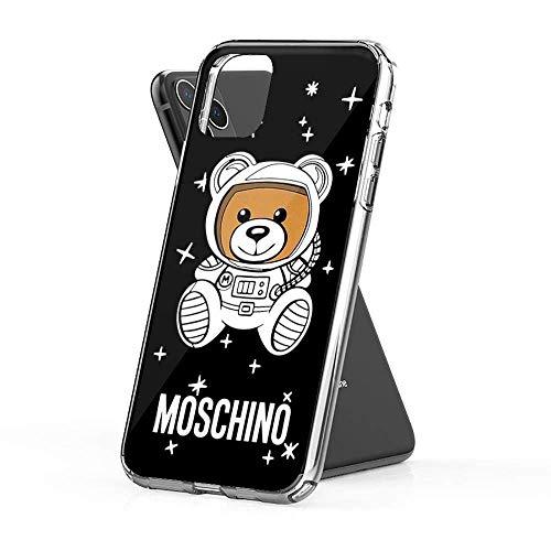 Compatible con iPhone 11 Pro MAX Funda Moschino Space Pure Clear Cajas del teléfono Suave de TPU Protector Cover