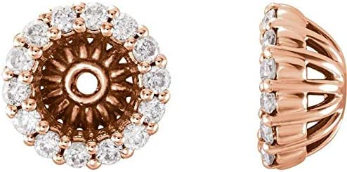 14K Rose Gold 1 5 Topics on TV CTW Diamond ID Earring with 6.1 Hal Jackets mm Over item handling