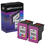 Speedy Inks Remanufactured Ink Cartridge Replacement for HP 901 (Color, 2-Pack)