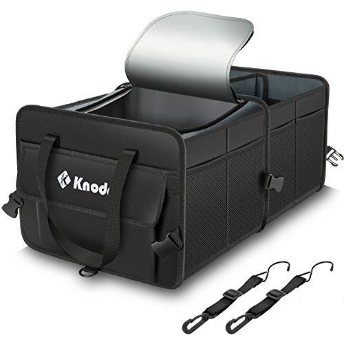 Knodel Robuster Kofferraum-Organizer mit Premium Isolierung Kühltasche, strapazierfähig, zusammenklappbar, Kofferraum-Organizer für Auto, SUV, LKW oder Transporter