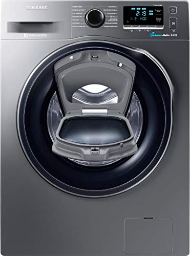 Samsung WW80K6404QX/EG Waschmaschine FL/A+++/116 kWh/Jahr/1400 UpM/8 kg/Add Wash/WiFi Smart Control/Super Speed Wash/Digital Inverter Motor