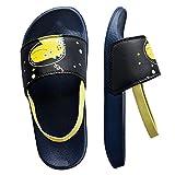 Knixmax - Chanclas para Niños y Niñas, Zapatos de Playa y Piscina para Unisex Niñas Sandalias de Punta Descubierta Ducha y Baño Chanclas Antideslizante, K-Amarillo-26