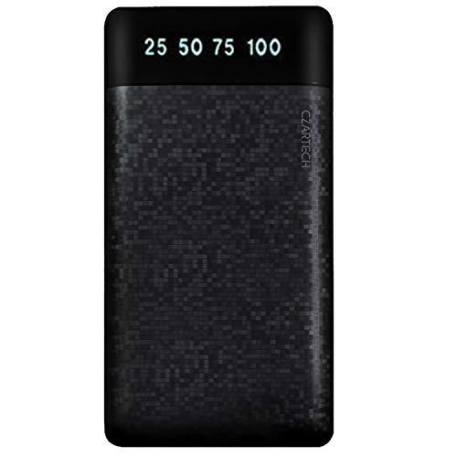 CZARTECH Matrix Slim Pocket Size 10000 mAh Power Bank with Dual USB Ports (Weight: 210gm) - 1Yr Warranty