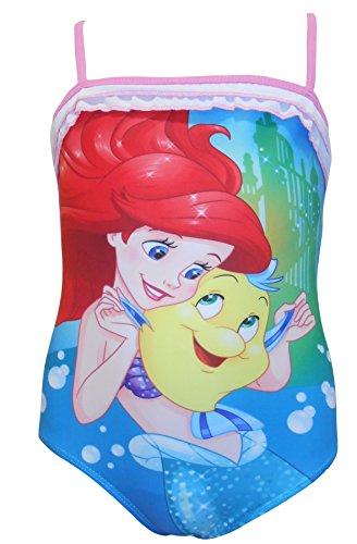 Mädchen Charakter Schwimmen Anzüge mit Halskrause Sommer Badeanzug Strand Schwimmbad Spaß - Disney Princess, 2 - 3 Years