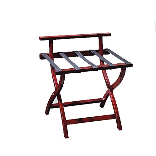 Learn More About MAODATOU Luggage Racks Wood Folding Luggage Rack with Shelf (Pack of 1),Luggage Sta...