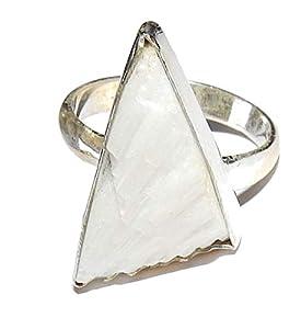 Scolecite Ring 01 Gorgeous Stone Spiritual Healing Crystal Energy Size 8.5