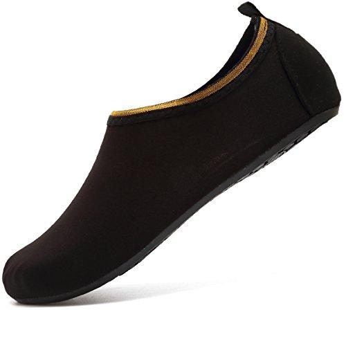 VIFUUR Water Sports Unisex Shoes SoidBlack - 9-10 W US / 7.5-8.5 M US (40-41)