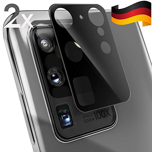 UTECTION 2X Kamera Glasfolie für Samsung Galaxy S20 Ultra - Einfache Anbringung, Anti Kratzer - Keine Beeinträchtigung von Blitz oder Sensoren - Kameraschutz Schutzglas - Glas Schutzfolie