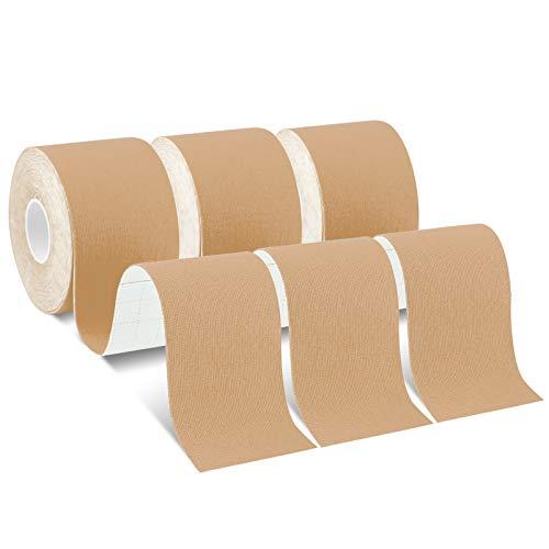 Laneco Kinesiology Tape (19.7ft Uncut Per Roll, 3 Rolls), Latex Free Physio...
