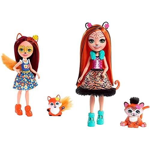 Enchantimals Felicity Fox Y Flick, Muñeca con Mascota (Mattel Fxm71) + Muñeca...