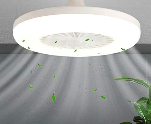 RBSM Geruisloze Plafondventilator met Lamp, Moderne Woonkamer Slaapkamer Plafondlamp met Ventilator, Laag Stroomverbruik, 36 Watt, Ventilatorlamp voor Zomer en Winter, Wit (Zonder ophangdraad)
