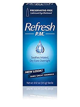 Refresh PM Sensitive Lubricant Eye Ointment - 0.12 oz Pack of 4