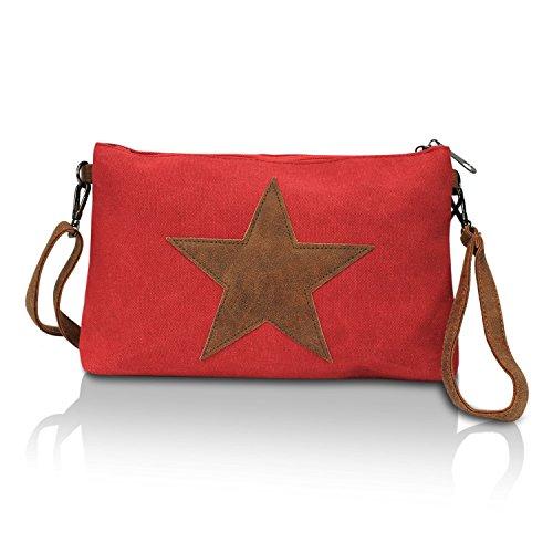 Glamexx24 Bolso de mano de los bolsos de las mujeres de hombro con el bolso que lleva del modelo de estrella
