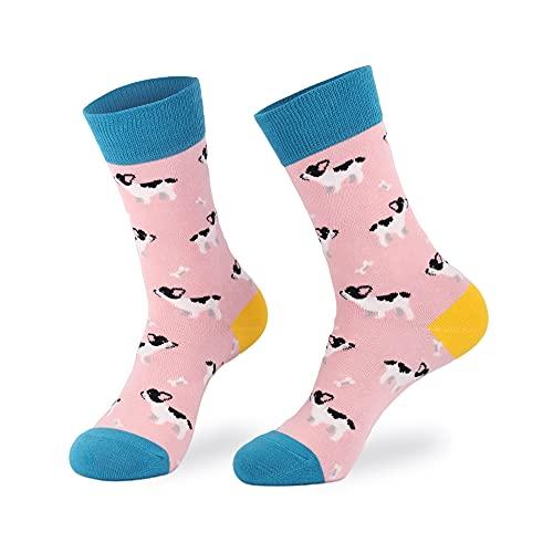 Knapfold Women's French Bulldog Socks Gift For Dog Lover, Fun Novelty Crew Socks