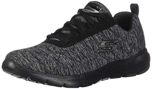 Skechers Women's Flex Appeal 3.0-INSIDERS Trainers, Black (Black & Gray Mesh/Black Trim Bkcc), 5 UK 38 EU