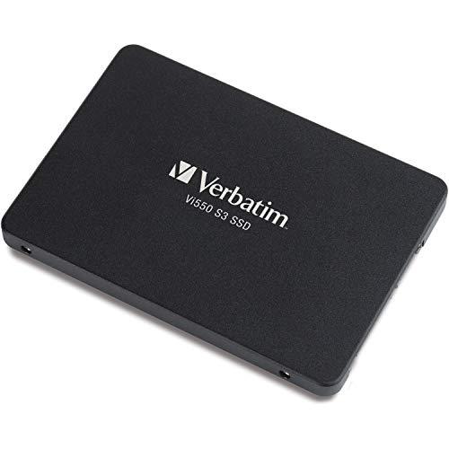 VERBATIM Vi550 S3 SSD - interne SSD 256GB - Solid State Drive - 2,5'' SATA III Schnittstelle - internes SSD-Laufwerk mit 3D-NAND-Technologie - Hochleistungs-SSD 256GB - 560MB/s - schwarz