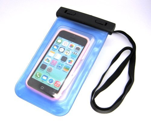 BEST SHOPPER Universal Waterproof Underwater Pouch Dry Bag Case Cover Cell Phone Swimming Bag Fits Most Mobile Phones - Blue