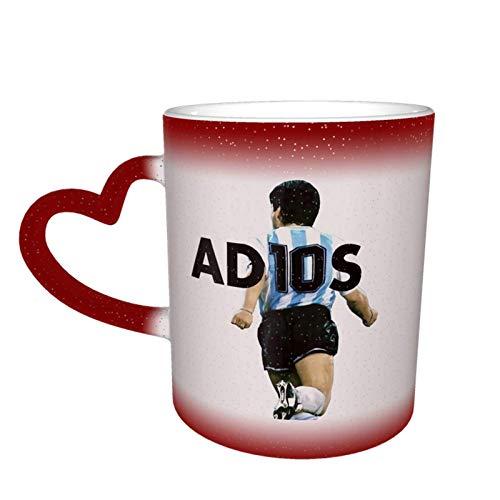 Diego Maradona R.I.P. Taza cambiante de color taza de café con diseño de cerámica sensible al calor, taza cambiante de color en el cielo regalo de cumpleaños
