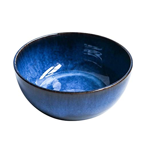 YUZHUKKKPYZ W Cereal Bowls 2400ml Super grande ensalada tazón cerámica porcelana azul gota tazón al por mayor vajilla profundo azul profundo gran capacidad tazón (color: 2400ml)