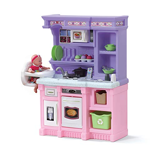 Product Image of the Step2 Little Baker's Kitchen | Pink & Purple Play Kitchen with Baking Set | Toy...