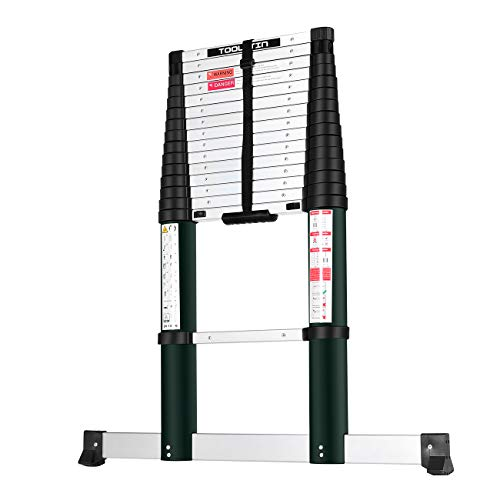YouHeng Toolitin 15.5FT Telescoping Ladder with...