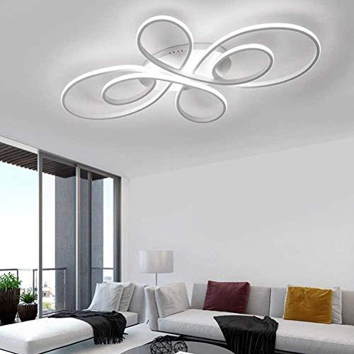 LED de la sala de estar de la lámpara dormitorio moderno lámpara del techo, 72W regulable 3000K-6500K con control remoto comedor Lámpara de habitaciones, moderno diseño de las flores de acrílico de la