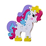 Wooden Jigsaw Puzzle Pony Preschool Learning Educational Developmental Toy Great Gift for Girls and Boys Best for 3+ Year Olds