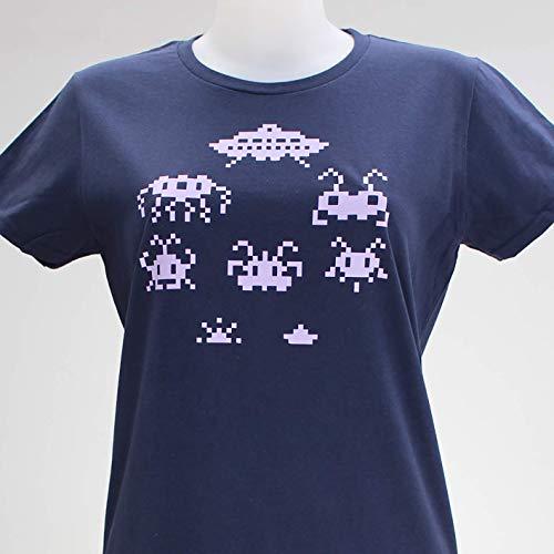 Arcade Aliens. Camiseta azul o negra de chica: Amazon.es: Handmade
