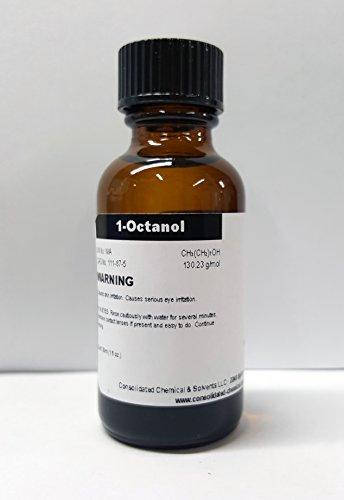 CCS LLC 1-Octanol (Alcohol C-8, Octanol) High Purity Aroma Compound 30ml (1oz)